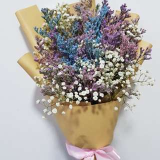 Mix color caspia & baby breath bouquet
