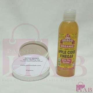 Aztec Secret Indian Healing Clay 100g ➕ Bragg Apple Cider Vinegar 100mL