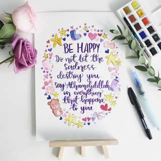 Children themed calligraphy cards (customizable)
