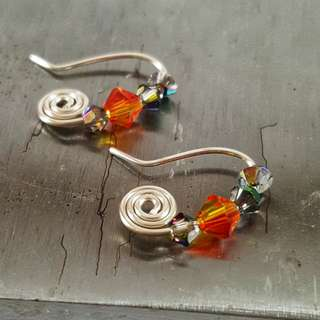 Spiral SWAROVSKI earrings