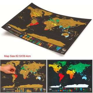 World Scratch Map 80 x59 cm