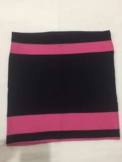 Bandage skirt black and pink