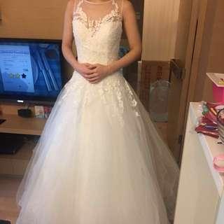 長拖尾 簡約 顯瘦 婚紗 wedding dress wedding gown