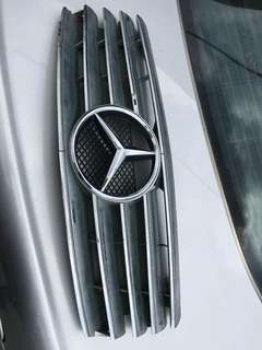 Mercedes w202 star full chrome front grill