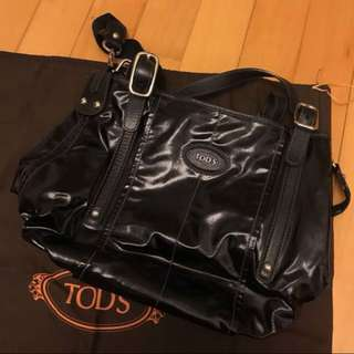 Tod's leather handbag 黑色真皮手袋