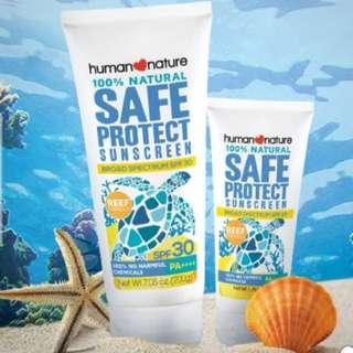 Sunscreen Human Nature