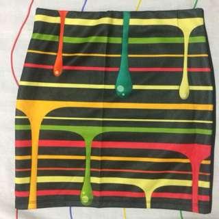 Paint pencil skirt