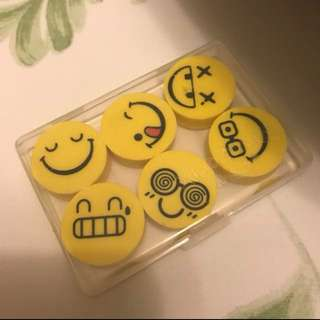 *全新* smiley faces rubber