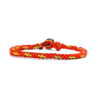 Handmade Chinese Red Satin Cord Gold String Knot Erawan Shrine (四面佛) bracelet