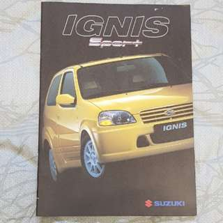 suzuki ignis sport sports swift gti cultus jwrc sales brochure catalogue technical specifications English car hothatch hot-hatch M15 M15A equipment