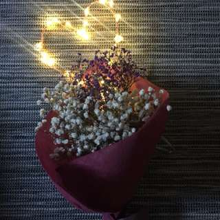 Baby Breath Bouquet with lights