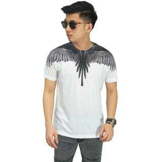 Kaos Printing Black Wings With Tribal