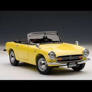 1:18 Honda S800 Yellow (Brand New) 金屬 合金 汽車模型(全新)