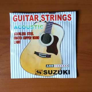 [BRAND NEW] Suzuki Acoustic Guitar Strings Set Stainless Steel Coated Copper Wound Light