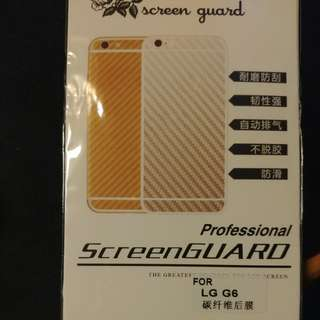 LG G6  碳纖紋 後膜 背貼