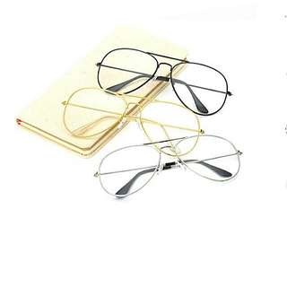Aviator Clear Eyeglasses (with pouch+cloth)