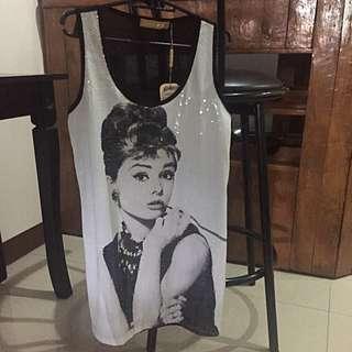Audrey Hepburn Dress / Long Top