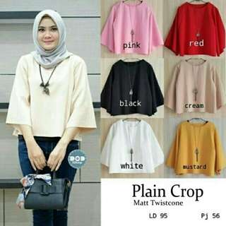 Blouse Wanita PLAIN CROP GU