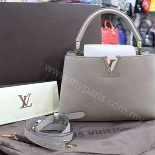 Louis Vuitton Galet Taurillon Leather Capucines PM
