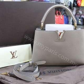 Louis Vuitton Galet Taurillon Leather Capucines PM
