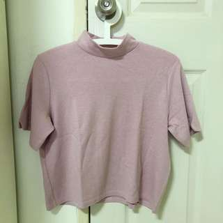 Dusty Pink Mock Neck Top