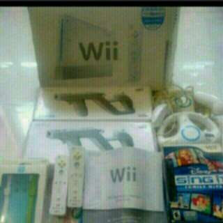 Full set Wii console with 150 games