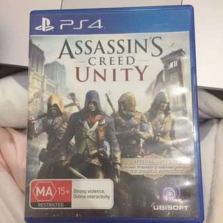 ASSASSINS CREED UNITY ps4 nego