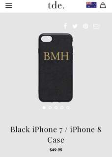 The Daily Edit IPhone 8 Case with monogramming BMH