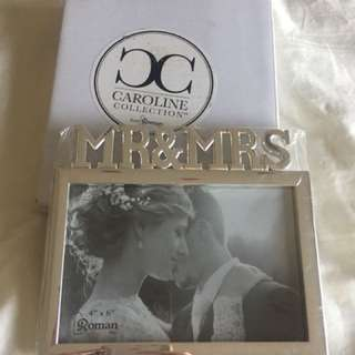 MR & MRS 4x6 Picture Frame