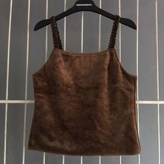 Brown Suede Top