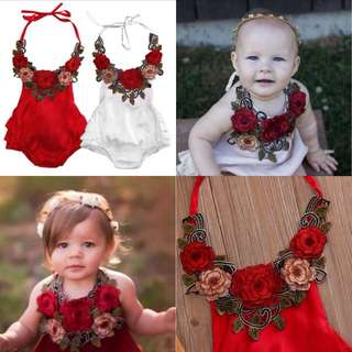 Rose Baby Romper (CLEAR STOCK)