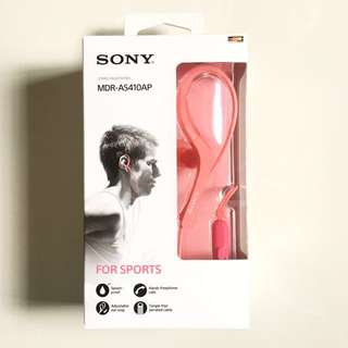Brand New Sony MDR-AS410AP Sports In-Ear Earphones