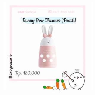 NEW Botol Termos Kelinci Pita Bunny Bow Thermos Peach 300mL