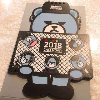 Bigbang Krunk Bear Calendar 2018