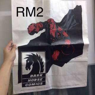 dark comics hero paperbag