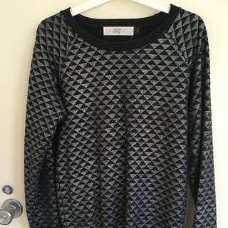 Black & Silver Jumper Size 8/10