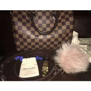 Authentic Louis Vuitton Speedy Ebene Damier 25