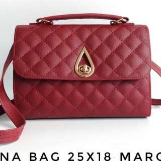 Luna Bag 25x18 Maroon