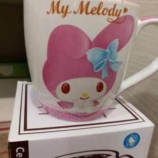 全新 有盒 My melody sanrio mug 水杯 草莓 少女 粉紅色