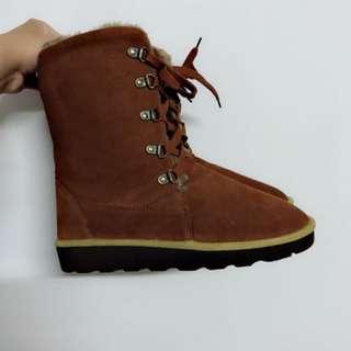🚚 棕色長筒毛雪靴✨