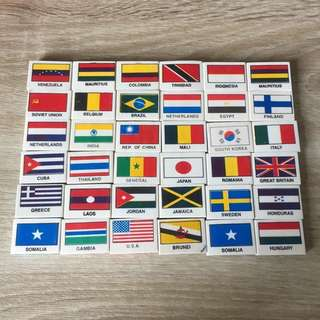 Country and flag Erasers