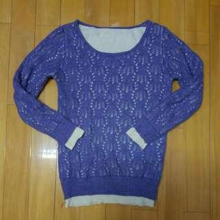 超靚料 紫色冷衫 女裝上衣 超靚 軟熟新淨 soft good quality purple sweater