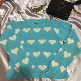 Blue pastel Love Sweater