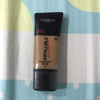 L'Oréal Infallible Pro-matte Foundation 110