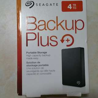 Seagate Backup Plus 4TB portable external hard drive HDD