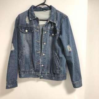 GMARKET Vintage Denim Jacket (Navy Blue, size S)