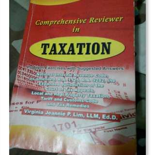 Taxation Reviewer & Dictionary by Lim