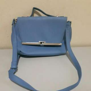 SMALL BLUE LEATHER BAG