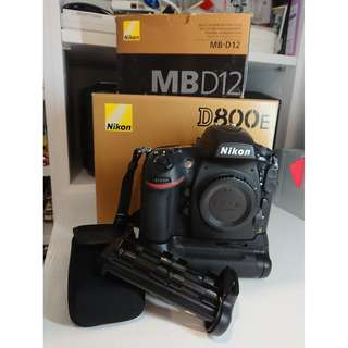 Nikon D800E + MB-D12