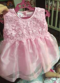 Pink Dress for 0-3 months